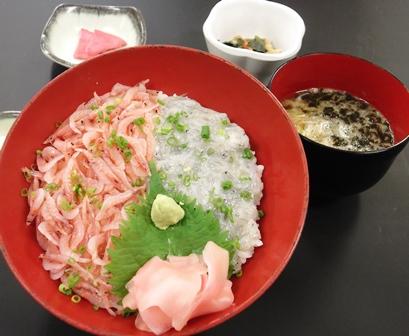 生シラス・桜エビの2色丼